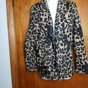 Grace Elements Leopard  Blazer SZ L